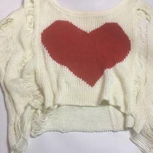 Knit Heart Crop top